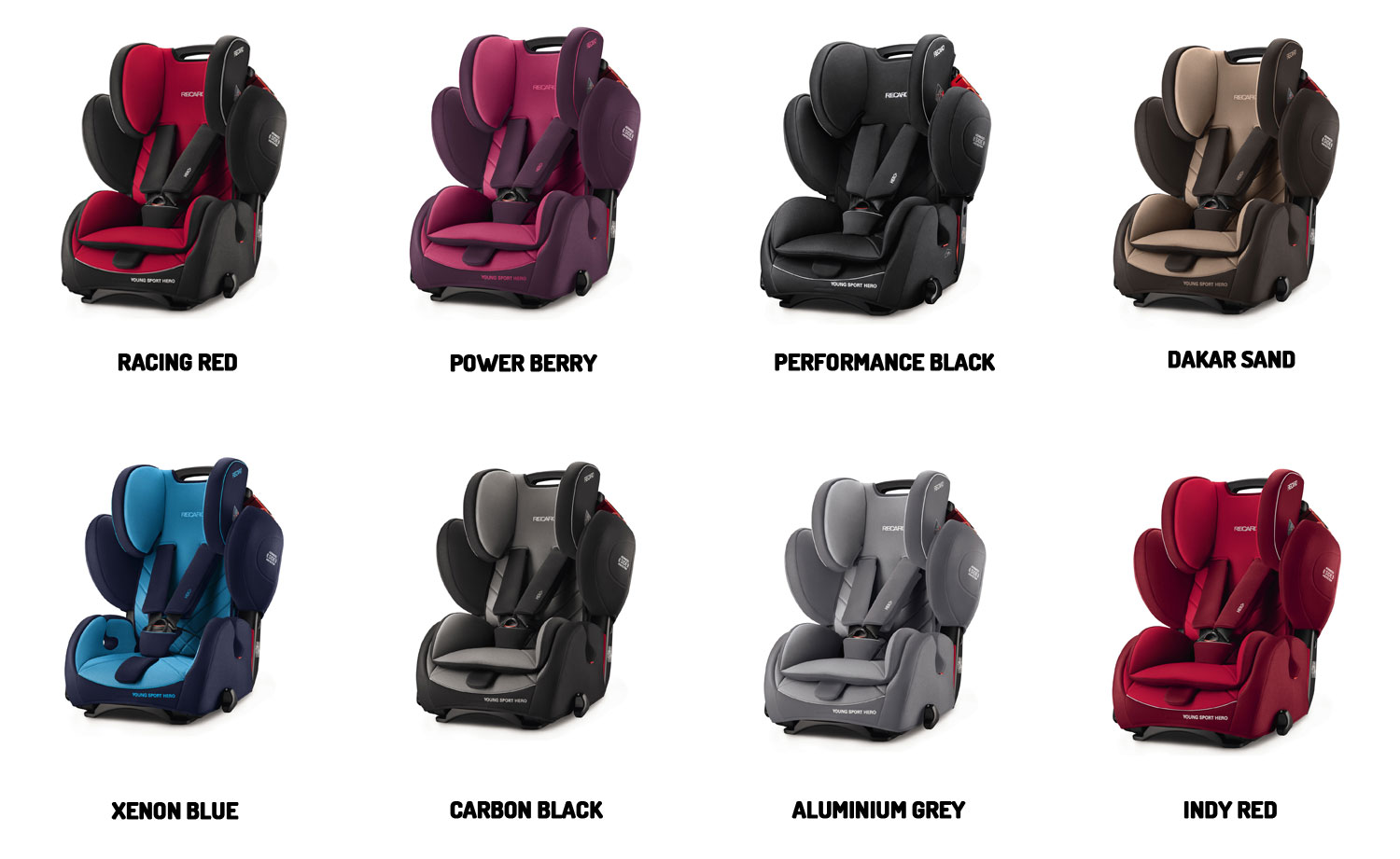recaro young sport hero performance black child seat 9 36. Black Bedroom Furniture Sets. Home Design Ideas