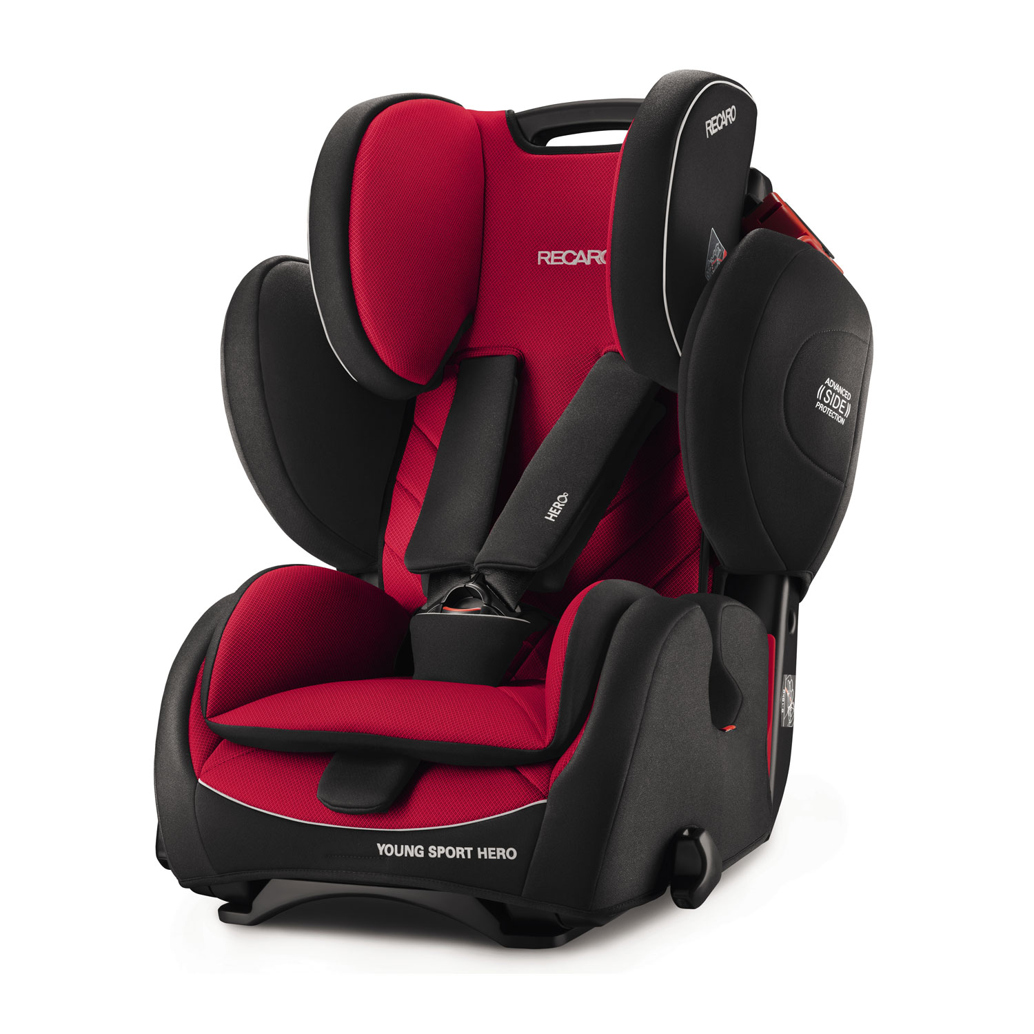 recaro germany young sport hero racing red child seat 9 36 kg 19 79 lbs racing red car. Black Bedroom Furniture Sets. Home Design Ideas