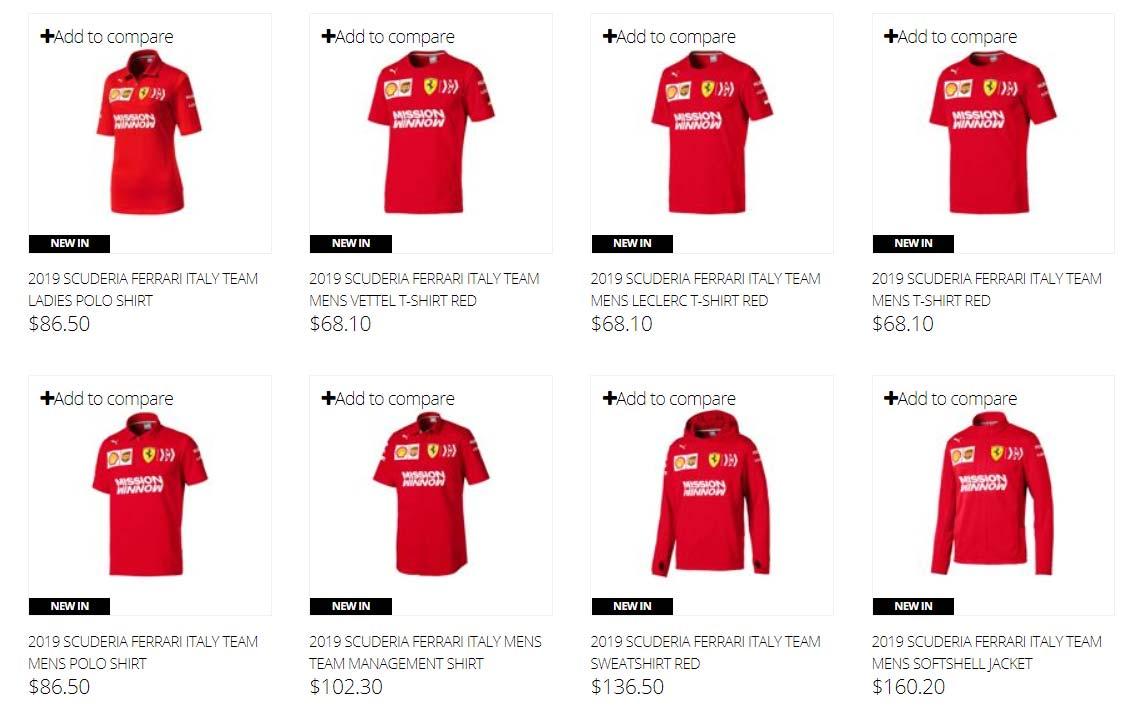 Scuderia Ferrari 2019 F1 Sebastian Vettel Driver T-Shirt