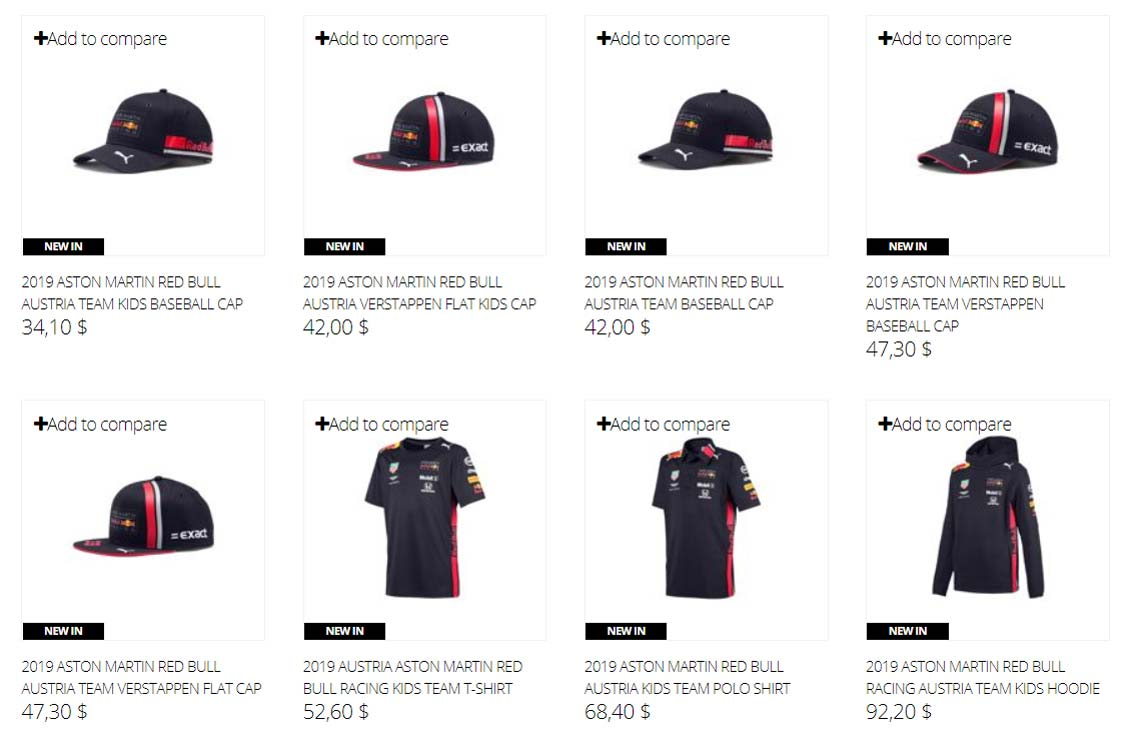New 2019 Red Bull Racing F1 Team Collection