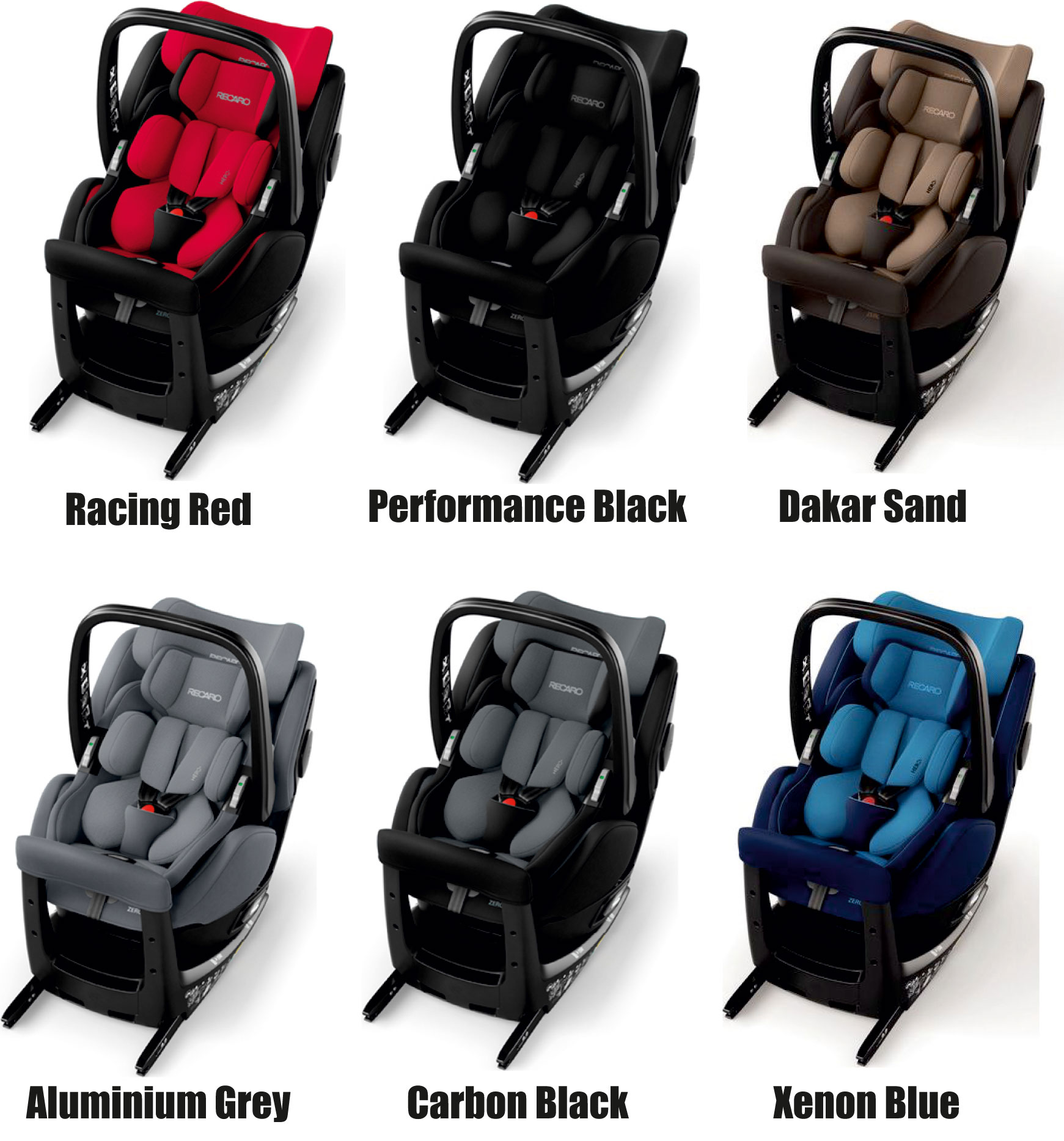 recaro germany zero 1 elite carbon black child seat 0 18. Black Bedroom Furniture Sets. Home Design Ideas