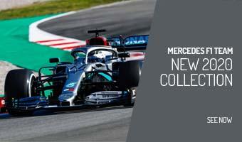 Mercedes Benz Petronas AMG Formula 1 Womens Classic Team Gray Polo Shirt