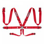Italy Sparco Safety Belts 6 - points 04818RAC Red (with homologation FIA)