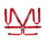 Italy Sparco Safety Belts 6 - points 04818RAL Red (with homologation FIA)