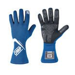 MY16 OMP FIRST-S Blue Racing Gloves (FIA)