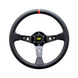 OMP Italy CORSICA BLACK Leather Steering Wheel