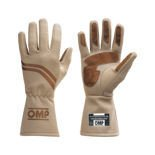 OMP Italy DIJON ecru Racing Gloves (with FIA homologation)