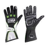 OMP Italy KS-1 Black - White - Green Gloves