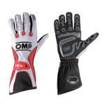 OMP Italy KS-1 White - Red Gloves