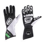 OMP Italy KS-2 Black - White - Green Gloves