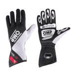 OMP Italy KS-2 Black - White - Red Gloves