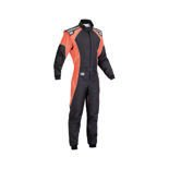 OMP Italy KS-3 FLUO Kid black - orange Karting Suit (with CIK FIA homologation)