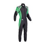 OMP Italy KS-3 FLUO black - green Karting Suit (with CIK FIA homologation)