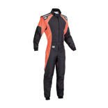 OMP Italy KS-3 FLUO black - orange Karting Suit (with CIK FIA homologation)