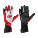 OMP Italy KS-3 Red and White Gloves