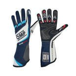 OMP Italy ONE EVO blue/grey Racing Gloves (FIA)