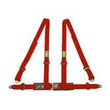 OMP Italy Road 4 - points Safety Belts ECE, DA505 Red