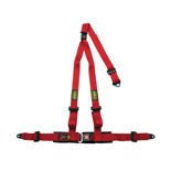 OMP Italy Strada 3 - points Safety Belts ECE, DA509 Red