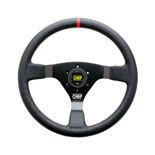 OMP Italy WRC Leather red stitching Steering Wheel