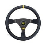 OMP Italy WRC Leather yellow stitching Steering Wheel