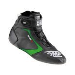 OMP ONE S Racing Shoes black/green (FIA)