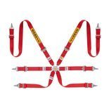 "Sabelt Safety Belts 6 - points Silver Saloon Rally 2"" Red (with homologation FIA)"