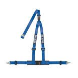 "Sparco Italy 3 - point 2"" Safety Belts, cleaved at the back, blue"
