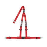 "Sparco Italy 3 - point 2"" Safety Belts, cleaved at the back, red"