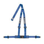 "Sparco Italy 3 - point 2"" Safety Belts with standard bolts, blue"