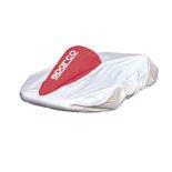 Sparco Italy Kart Cover silver and red