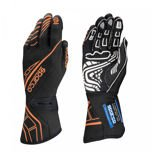 Sparco Italy Race Gloves LAP RG-5 Black/Orange (with FIA homologation)