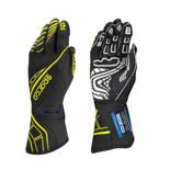 Sparco Italy Race Gloves LAP RG-5 Black/Yellow (with FIA homologation)