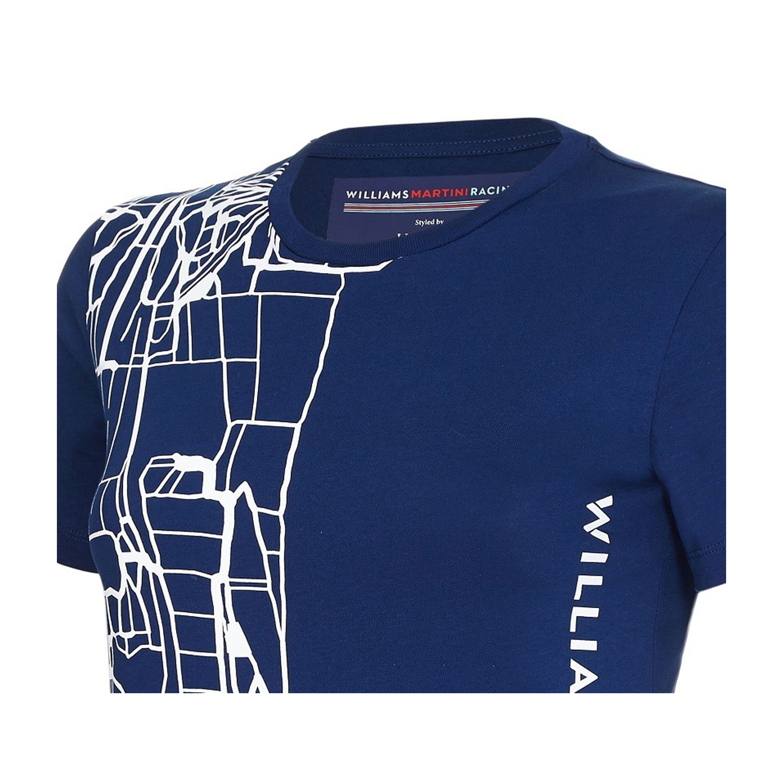 fan wear williams formula 1 team woman logo t shirt navy clothing t shirts shop by team. Black Bedroom Furniture Sets. Home Design Ideas