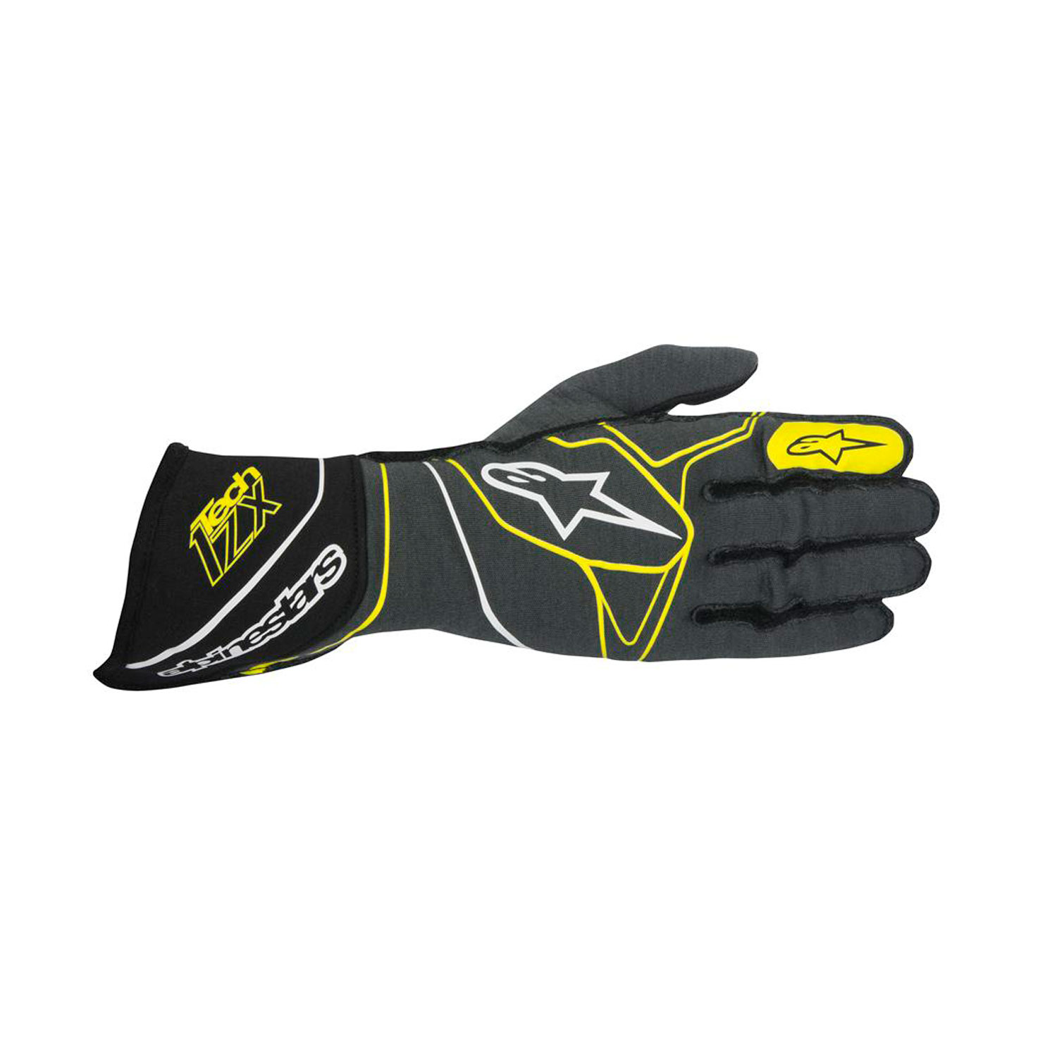 b0bc308d13eb 2017 Alpinestars Italy Tech 1-ZX Racing Gloves Grey Black Yellow (with