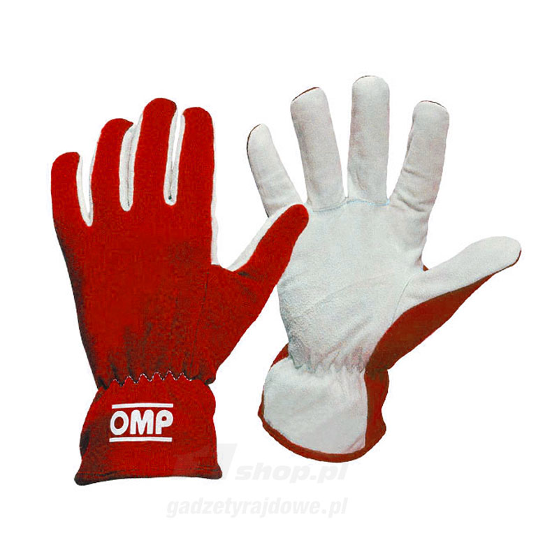 Omp Sport Gloves: OMP Italy NEW RALLY Red Racing Gloves