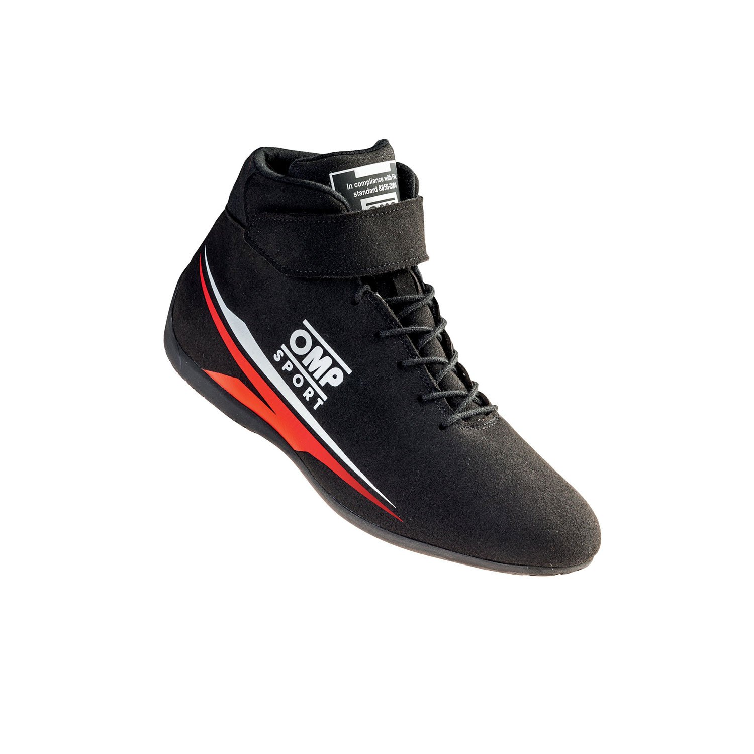 OMP Italy SPORT Black Racing Shoes (FIA)