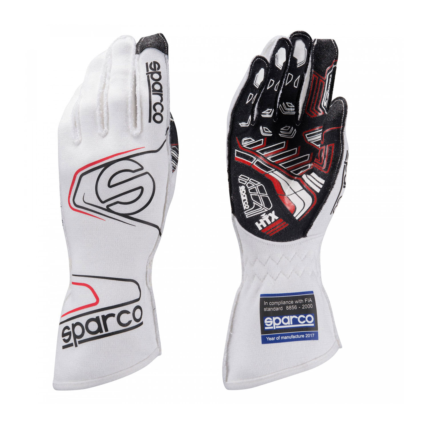 Sparco Italy Race Gloves Arrow Rg 7 White With Fia Homologation