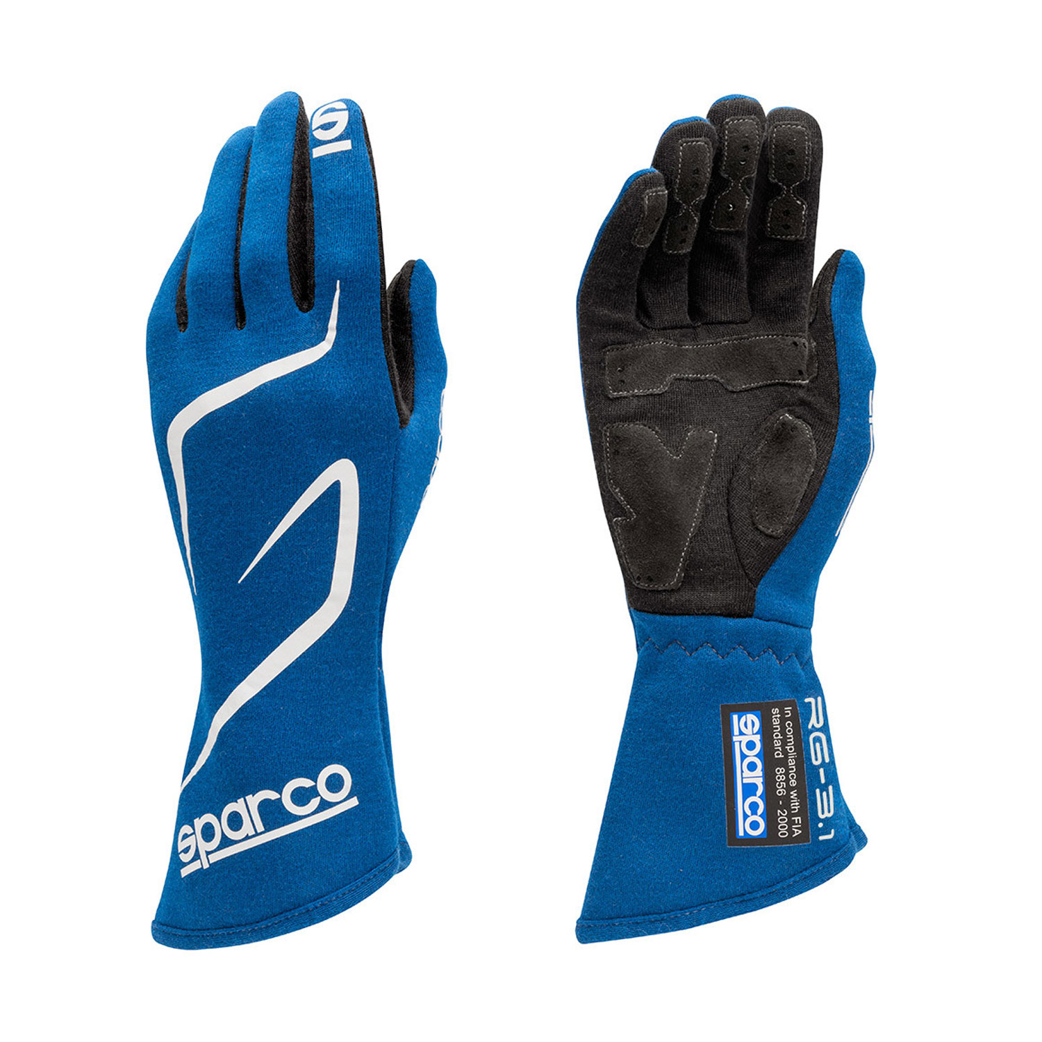 Sparco Italy Race Gloves LAND RG-3.1 blue (with FIA ...