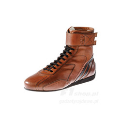 OMP Italy CARRERA High brown Racing Shoes (with FIA homologation)