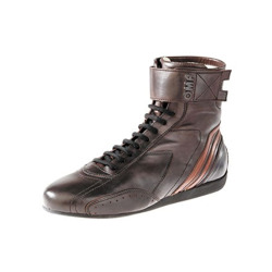 OMP Italy CARRERA High dark brown Racing Shoes (with FIA homologation)