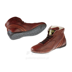 OMP Italy CARRERA low Brown Racing Shoes (with FIA homologation)