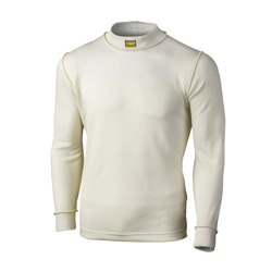 OMP Italy FIRST longsleeve top ecru (with FIA homologation)