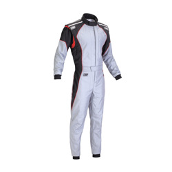 OMP Italy KS-3 grey Karting Suit (with CIK FIA homologation)