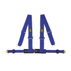 OMP Italy Racing 4 - points Safety Belts ECE, DA508 Blue
