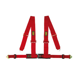 OMP Italy Racing 4 - points Safety Belts Red ECE, DA508