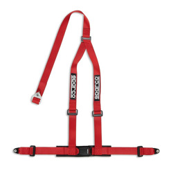 "Sparco Italy 3 - point 2"" Safety Belts with standard bolts, red"