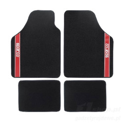 Sparco Italy NEW STRADA - B Car Mats black/red