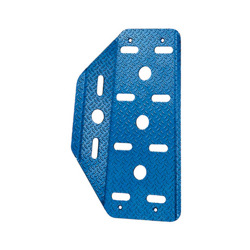 Sparco Italy aluminium Driver pro Footrest blue