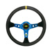 OMP Italy CORSICA BLUE Suede Steering Wheel
