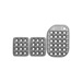 OMP Italy OA/1863 standard silver Pedal Pads